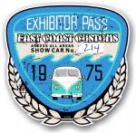 Aged Vintage 1975 Dated Car Show Exhibitor Pass Design Vinyl Car sticker decal  89x87mm